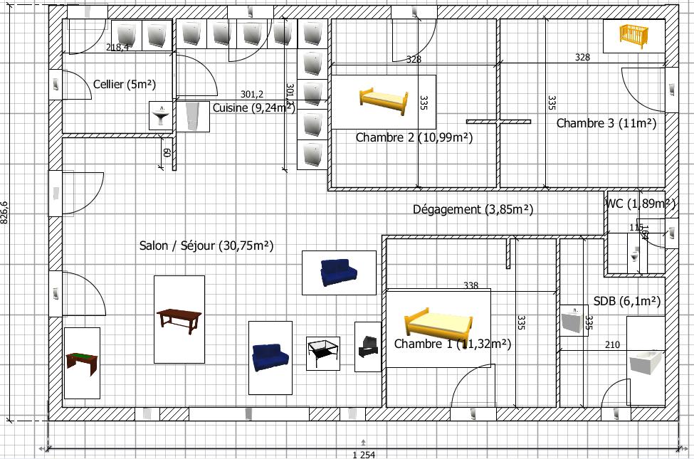 plan_90m2png - Modification De Plan De Maison